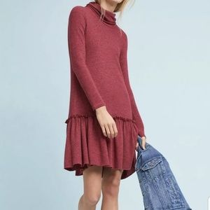 Sunday In Brooklyn ANTHROPOLOGIE Cotton Red Dress